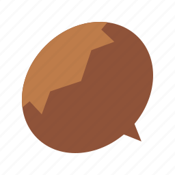 autumn, brown, chestnut, fall, nuts, seeds, tree icon