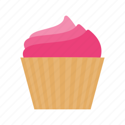 cake, cream, cup, cupcake, dessert, icing, muffin icon