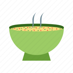 bowl, cool, food, hot, soup, steam, weather icon