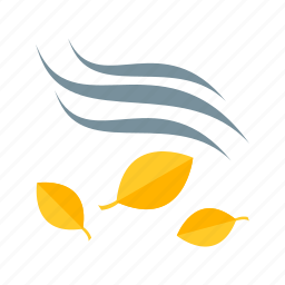 autumn, color, fall, leaves, maple, nature, wind icon
