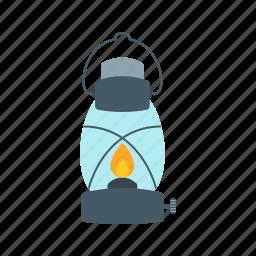 gas, lamp, lantern, light, oil, outdoor, wood icon