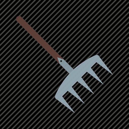 autumn, garden, grass, handle, leaf, rake, tool icon