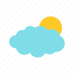 beautiful, blue, clouds, day, nature, sky, sun icon