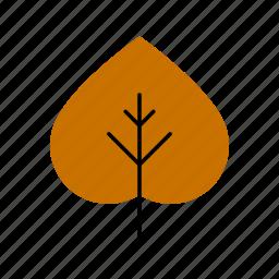 aspen, autumn, fall, leaf, leaves, nature, tree icon