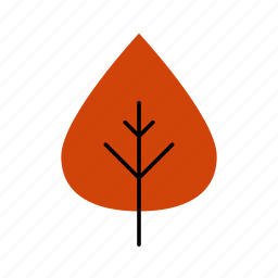 autumn, fall, leaf, leaves, nature, poplar, tree icon