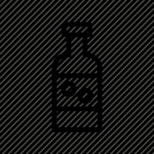 animal, autumn, bottle, food, holiday, leaf icon