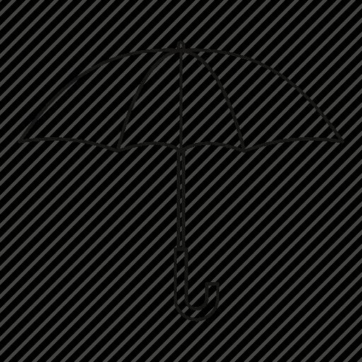 isolated, line, outline, protection, rain, umbrella, weather icon