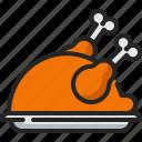 turkey, chicken, food, grill, roast