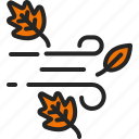 wind, leaf, windy, strom, nature