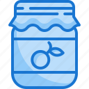 jam, breakfast, conserve, food, jar