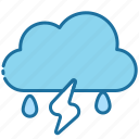 storm, thunderstorm, weather, cloud, rain, thunder, autumn