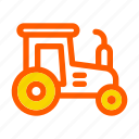 agrimotor, autumn, fall, farm, harvest, tractor, vehicle icon
