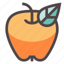 apple, autumn, diet, fall, fruit, healthy, leaf icon
