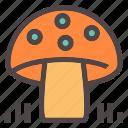 autumn, fall, food, forest, gastronomy, health, mushroom icon