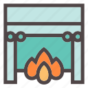 autumn, chill, fireplace, home, hugge, interior, warm icon