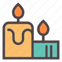 autumn, candle, comfort, fall, fire, home, hugge icon