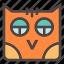 autumn, bat, bird, fall, forest, halloween, owl