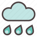 autumn, cloud, fall, forecast, rain, shower, weather icon