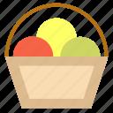 basket, egg, farm, flower, fruit, harvest icon