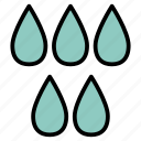 bath, bathroom, drops, head, shower, water icon
