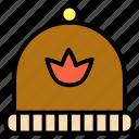 cap, handmade, knitted, wear, winter, woolen icon