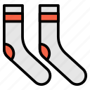 clothes, clothing, sock, socks, wool icon