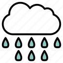 cloud, dropl, forecast, raining, rainy, weather icon