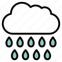 cloud, raindrops, raining, rainy, weather icon