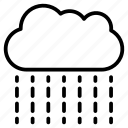 cloud, forecast, raining, rainy, weather icon