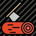 blade, carpainter, hand, log, saw, wood icon