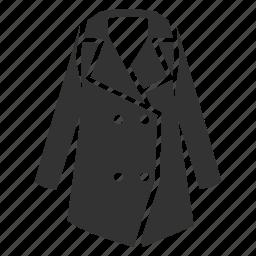 apparel, autumn, clothing, coat, overcoat, wear, winter icon