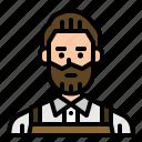 avatar, barista, hipster, man, server