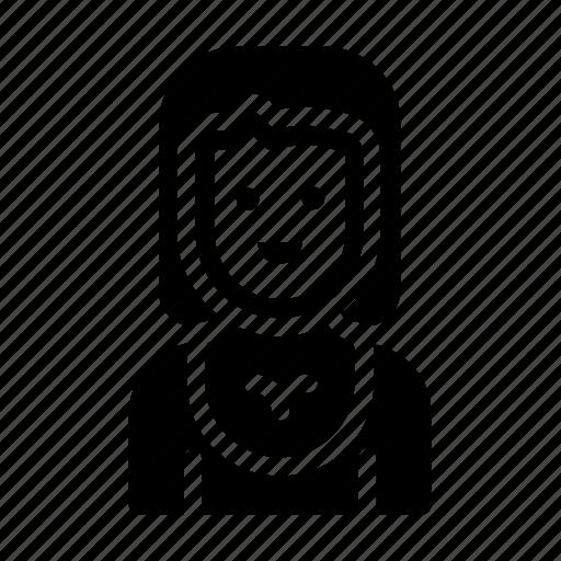 avatar, female, girl, mother, sister icon