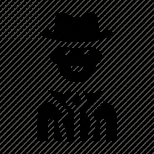 avatar, magician, male, man, spy icon
