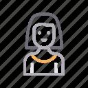 avatar, female, girl, teacher, women icon