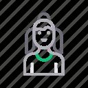 avatar, child, female, girl, human icon
