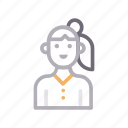 avatar, child, female, girl, women icon