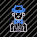 avatar, businessman, magician, male, man