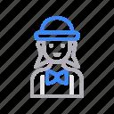 avatar, female, girl, waiter, women icon