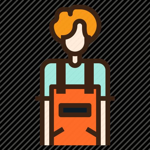 avatar, job, occupation, person, profession, staff, waiter icon