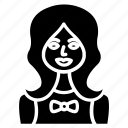 avatar, female, girl, person, user icon