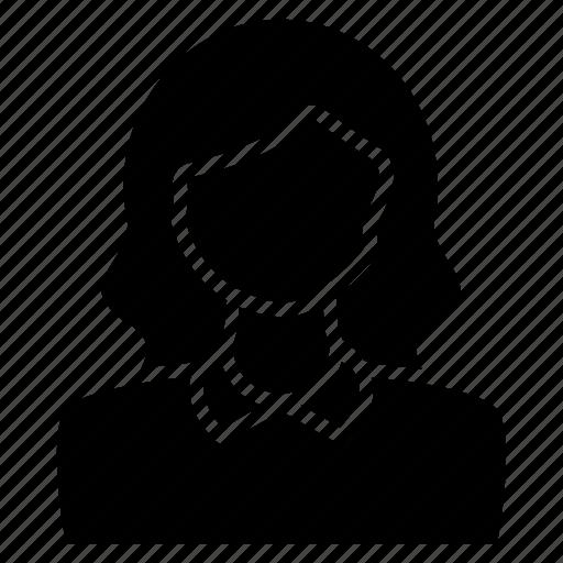 account, avatar, contact, female, portrait, profile, user icon