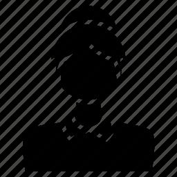 avatar, david, girl, head, user, woman icon