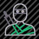 avatar, male, man, ninja, warrior