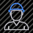 avatar, boy, engineer, man, worker icon