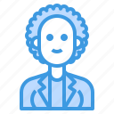 avatar, curly, female, woman, women icon