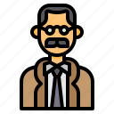 avatar, man, men, mustaches, old, professor, profile