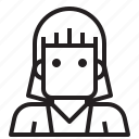 avatar, female, hair, short, woman icon