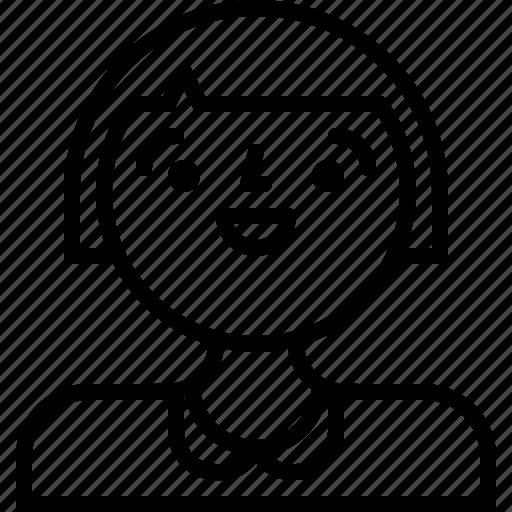 avatar, girl, person, woman icon