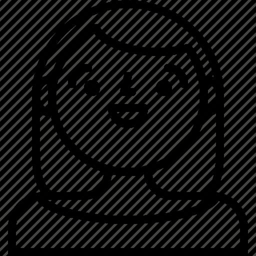 girl, people, user, woman icon